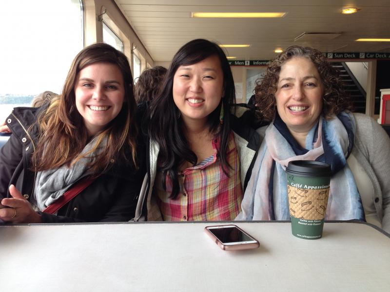 Photo: small group on a Washington State Ferry