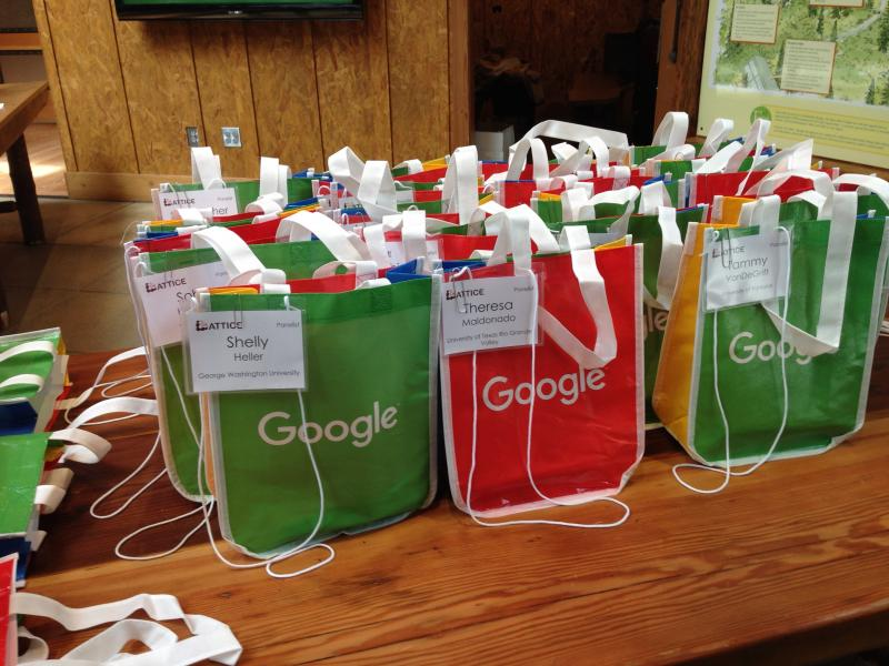 Photo: LATTICE symposium goodie bags