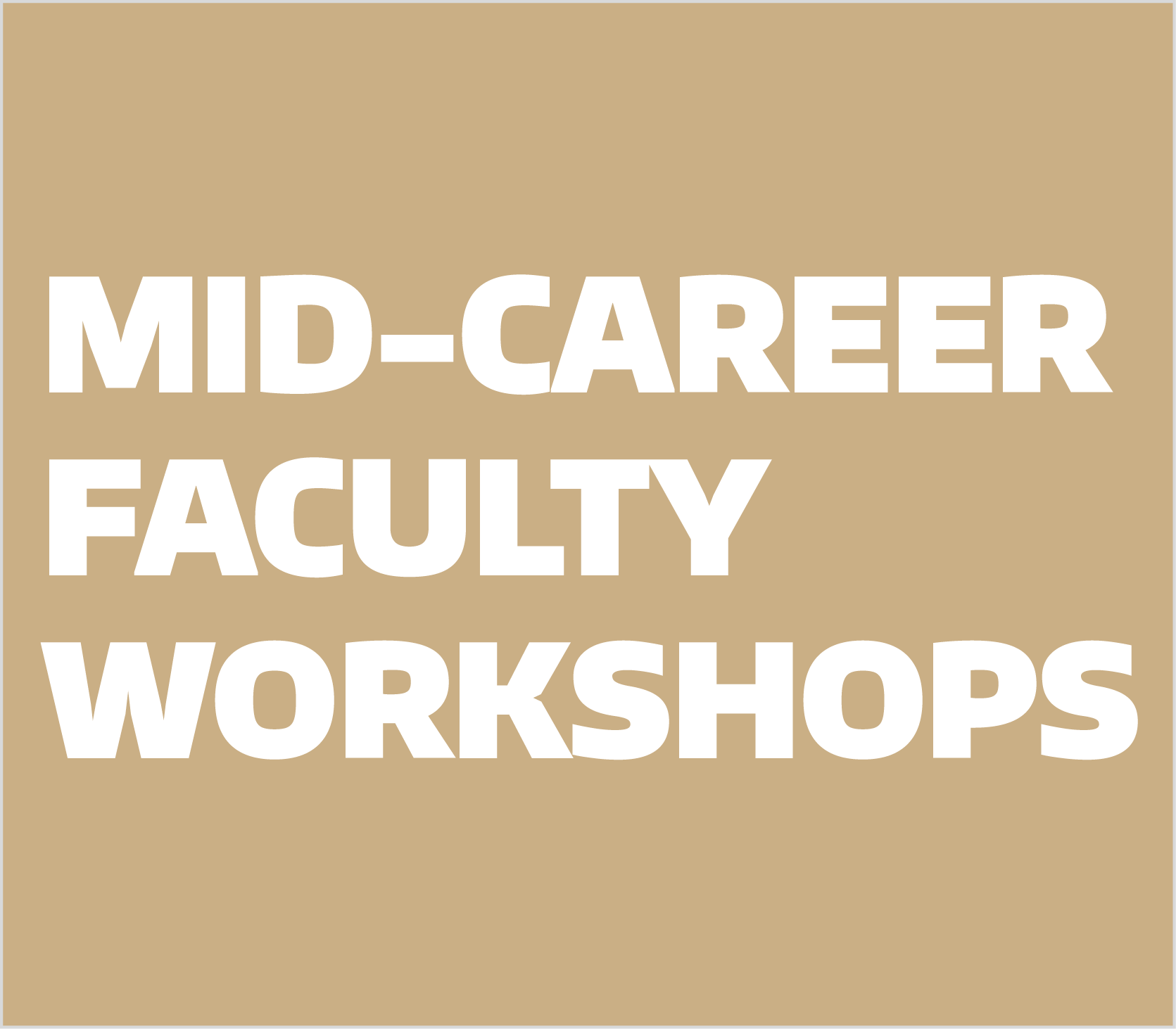Mid-Career Workshops
